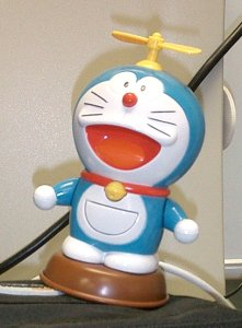 Picture of a Japanese 'Doraemon' toy with a spinning propellor hat.