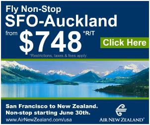 [sfo to auckland for only USD 748]